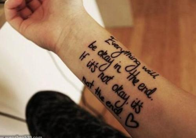 英文家庭意义纹身短句