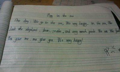 5句话的英语日记 英语小学日记五句话,带翻译