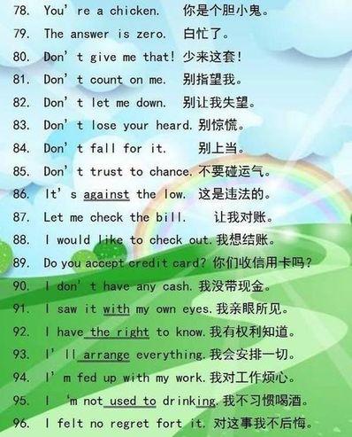 每天5句英语对话 5句英语对话