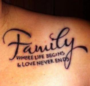关于家人的纹身句子 关于父母纹身英文短句、希望大家帮忙推荐下