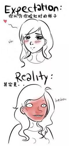 形容一个女孩子脸红的的话 形容脸红的句子有哪些?