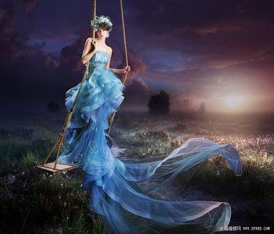 形容仙女飘逸的句子 描写古代仙女身穿蓝色衣服的句子
