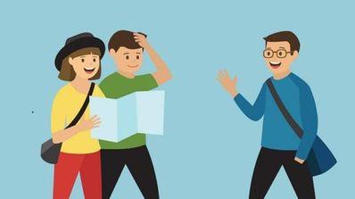 英语问路情景对话15句两人 英语口语两人情景对话每人15句要翻译