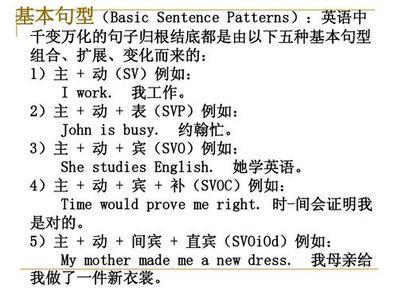英语180个常用句型 英语常用句型