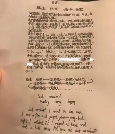 英语小日记7句话 英语日记。7句