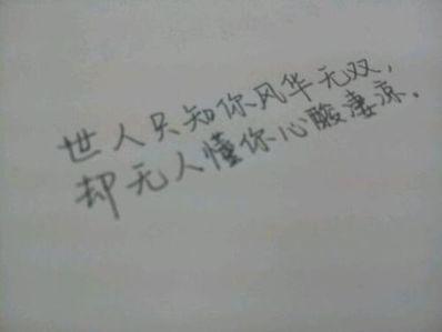 没人能懂你的心酸句子