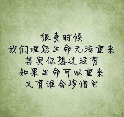 无法重来一生的句子 无法重来的一生是什么意思