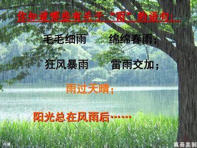 形容夏天狂风暴雨的句子