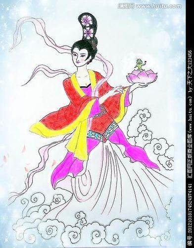 描写仙女姿态优美句子 描写古代仙女身穿蓝色衣服的句子