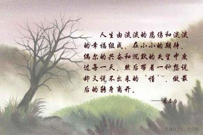 淡淡的忧伤唯美句子 要一些唯美而且带些淡淡的忧伤的句子