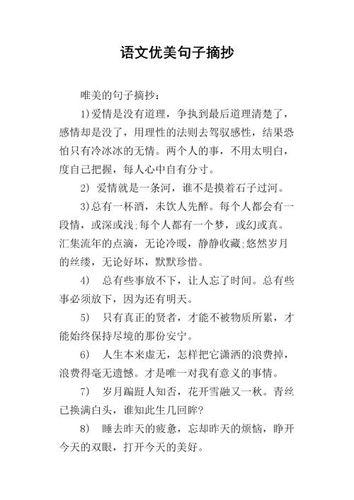 初中语文摘抄优美句子 初二语文摘抄优美的句子
