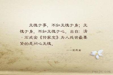 """问心的句子 形容""""自己问心无愧就好""""的句子有什么?"""
