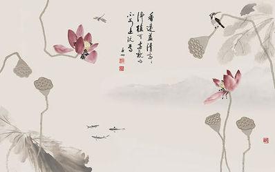 描写莲花的禅意诗句图片 描写莲花并带着禅意的句子都有什么?