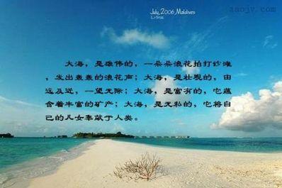 大海见证爱情的句子 关于海的爱情句子